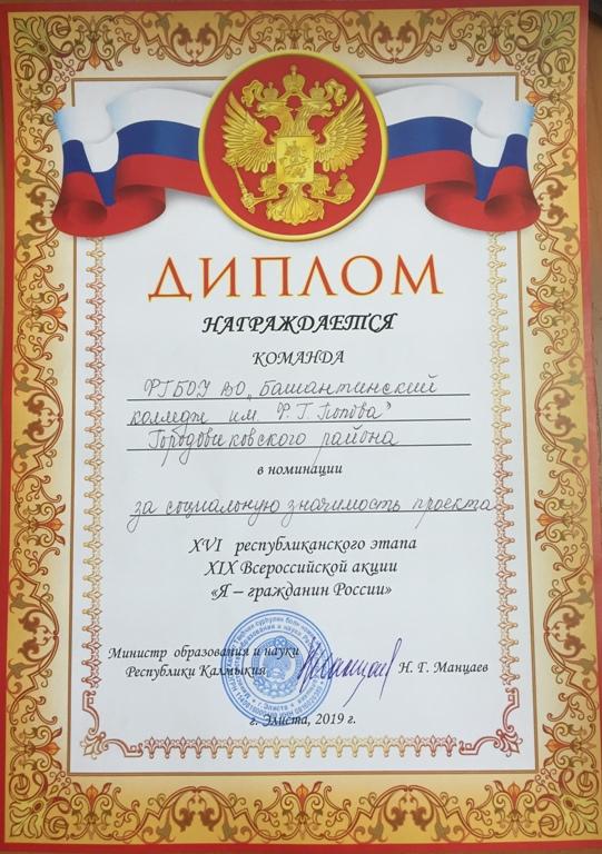 Финал  XVI  Республиканского этапа XIX  Всероссийской акции «Я-гражданин России»