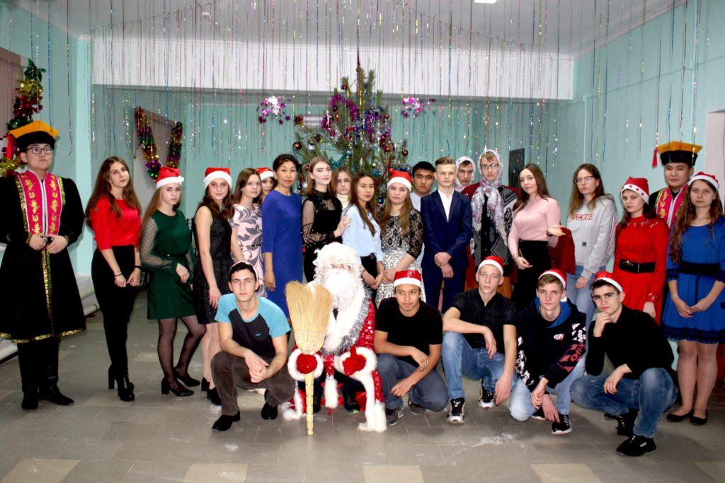 Новогоднее мероприятие для студентов, проживающих в общежитии