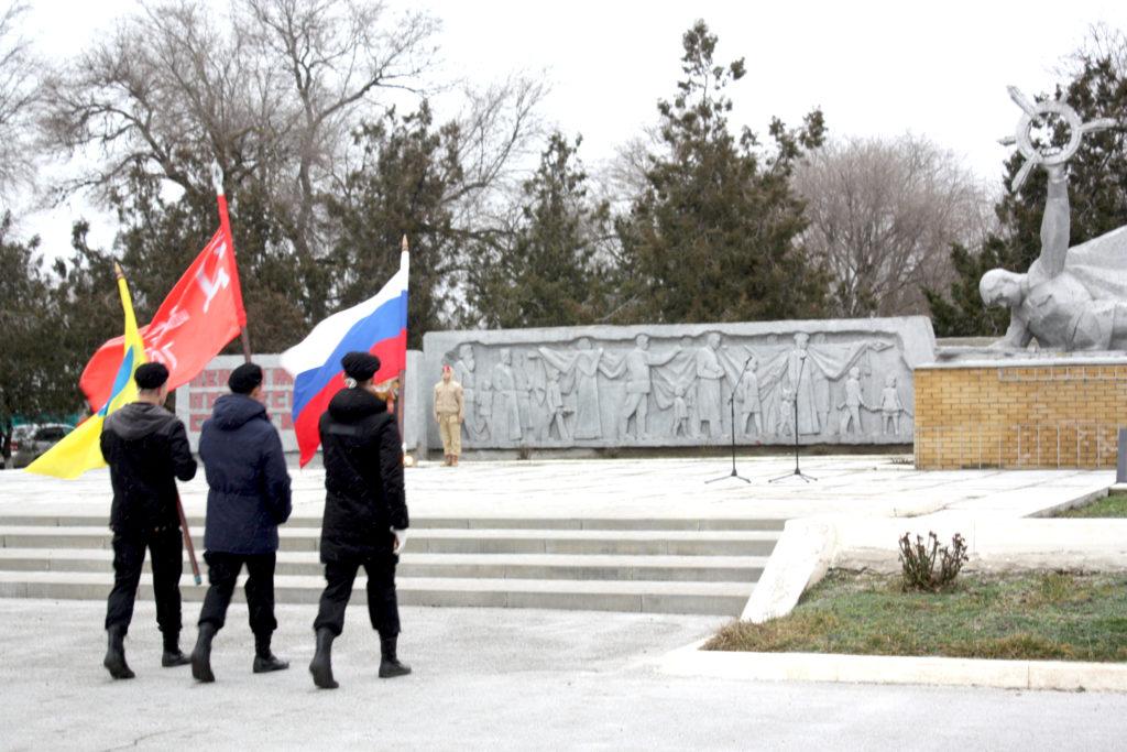 Студенты Башантинского колледжа имени Ф.Г. Попова приняли участие в митинге «Нам мир завещано беречь!»